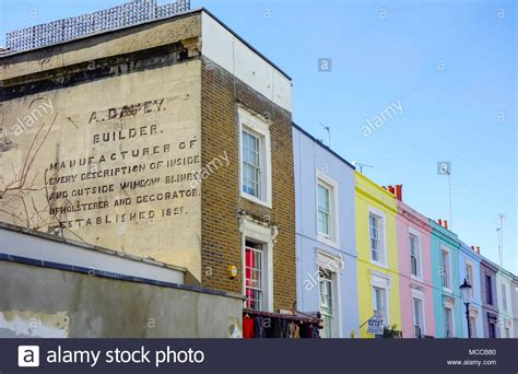 colorful hill colourful houses and notting hill stock photos colourful
