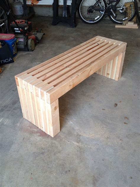 simple 2x4 bench plans easy 2x4 slatted bench white slat bench diy