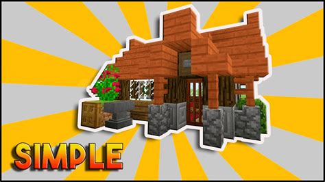 how to make a small house minecraft simple easy efficient survival house tutorial