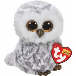 ty owlette beanie boos white owl big eyes animal soft toys ty