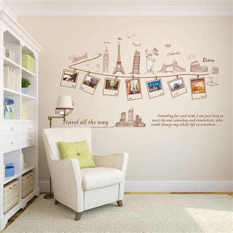 size wall stickers aliexpress buy large size wall decal creative combination world travel wall stickers for