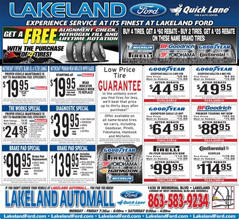 car service ad image gallery service coupons