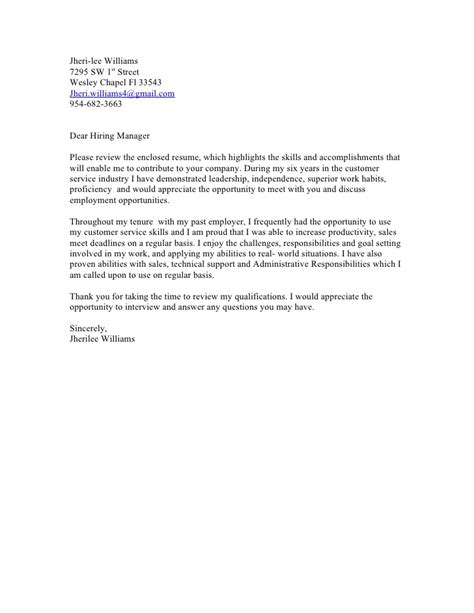 to the hiring manager cover letter sle cover letter cover letter template dear hiring manager