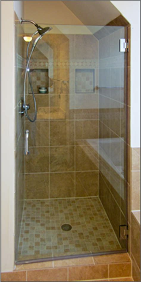 Single Shower Doors Glass Single Frameless Shower Doors Dulles Glass And Mirror