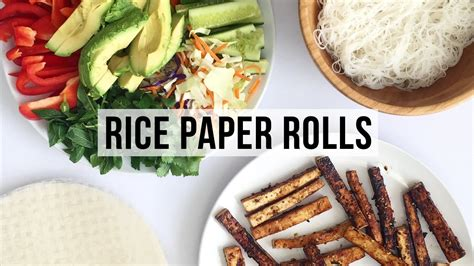 How To Make Rice Paper - how to make rice paper rolls vegan healthy