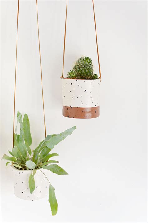 best small hanging plants diy faux ceramic hanging planters burkatron