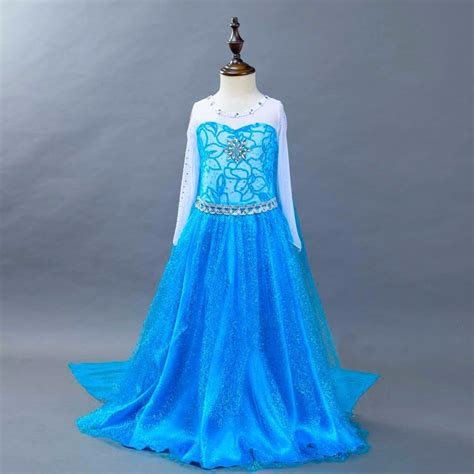 Dress Anak Scuba Frozen fashion birthday princess dress for 2 to 12 years elsa costume