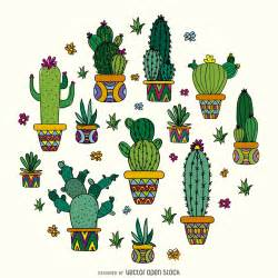 cactus drawing design vector download