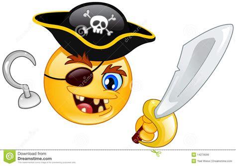 pirate emoticon stock vector illustration  dangerous