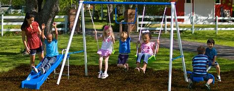 flexible flyer fun time metal swing set flexible flyer swing sets