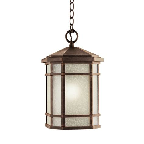 Pendant Porch Light Shop Kichler Cameron 17 75 In Prairie Rock Outdoor Pendant Light At Lowes