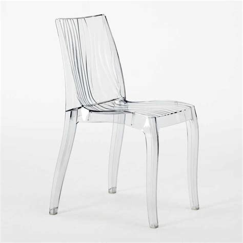 Chaise De Bar Transparente by Chaise Empilable De Bar Cuisine En Polycarbonate