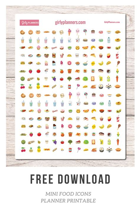 printable stickers journal free printable planner stickers mini food icons i use