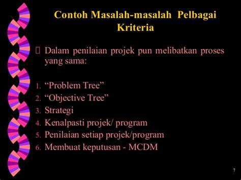 kriteria membuat rumusan masalah multi criteria decision making