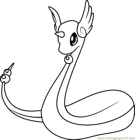 pokemon coloring pages dratini dragonair pokemon coloring page free pok 233 mon coloring