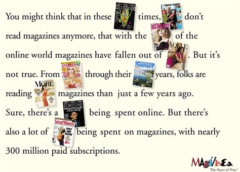 The Power Of Ads by The Power Of Print Magazine Advertising Is Not Dead