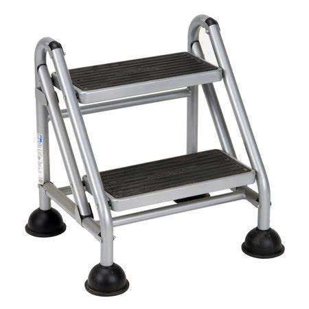 Rolling Step Stool Walmart by Cosco Rolling Commercial Step Stool 2 Step 19 7 10