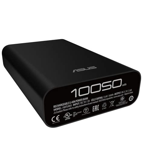Power Bank Zenpower 10050mah asus abtu005 zenpower 10050mah power bank with usb cable black buy asus abtu005 zenpower