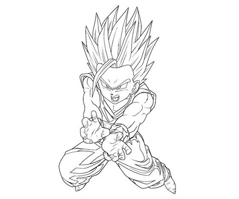 gohan 11 coloring crafty teenager