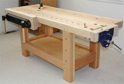 how to make a wooden work bench pdf diy wood working workbench download wooden craft