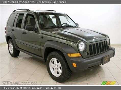 green jeep liberty jeep green metallic 2007 jeep liberty sport 4x4 khaki