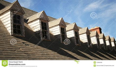 Dormer Roof Repair A Roof And Dormers In Need Of Repair Royalty Free Stock