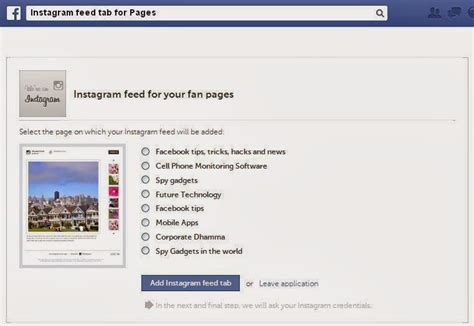 how to a fan page on instagram how to add quot instagram tab quot to fan page