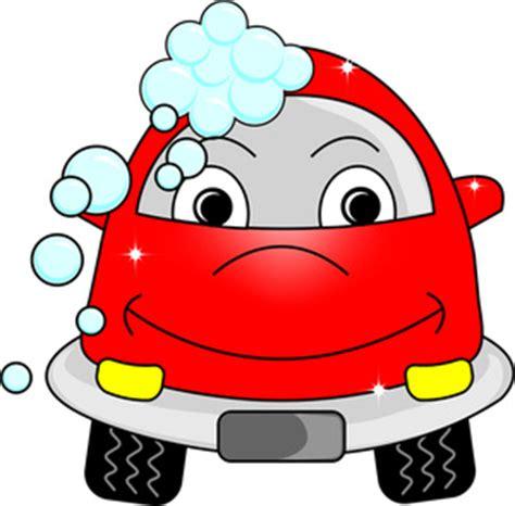 cartoon car clipart image car getting a car wash