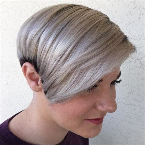 short haircut pixie cut ash blond blonde red brown ombre ed and highlighted pixie cuts