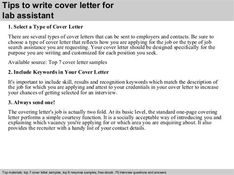 laboratory assistant cover letter lab assistant cover letter
