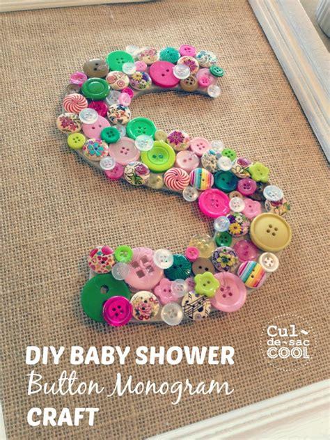 baby crafts diy diy baby shower button monogram craft