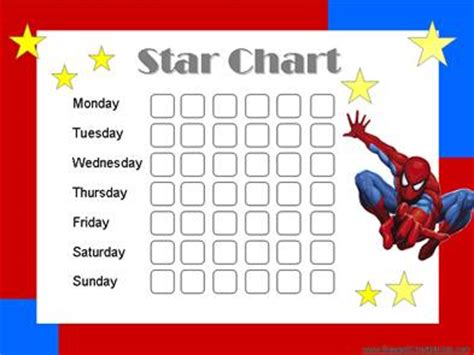 printable star reward chart star charts for kids