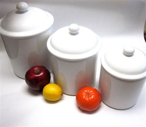 classic white ceramic canisters set of sweetie2sweetie