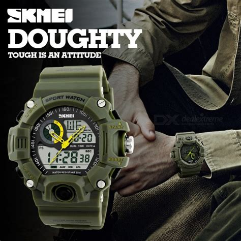 Skmei Dual Time Sport skmei 1029 s quartz digital dual time sports