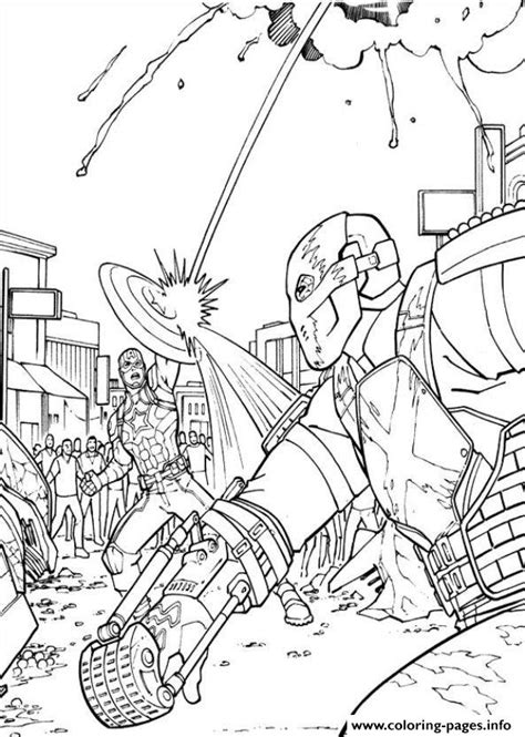 Captain America Civil War 10 Coloring Pages Printable War Colouring Pages