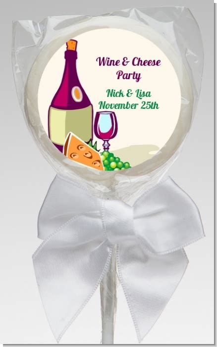 wine cheese bridal shower favors wine cheese bridal shower lollipop favors wine cheese lollipop favors