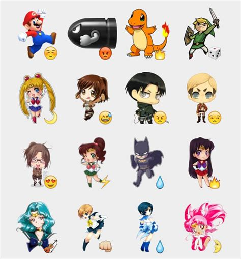 anime 91 set stiker telegram stiker