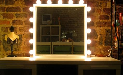 Mirror With Light Bulbs Around It by Bathroom Bathroom Vanity Mirror With Ligh Border Hanging
