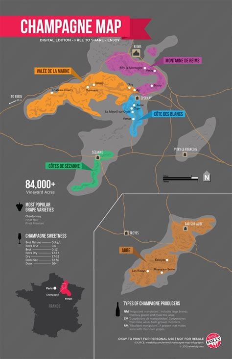 wine map chagne map infographic wine folly