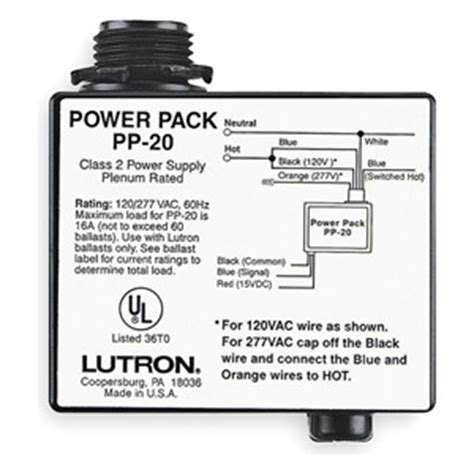 lutron pp  occupancy motion sensor power pack