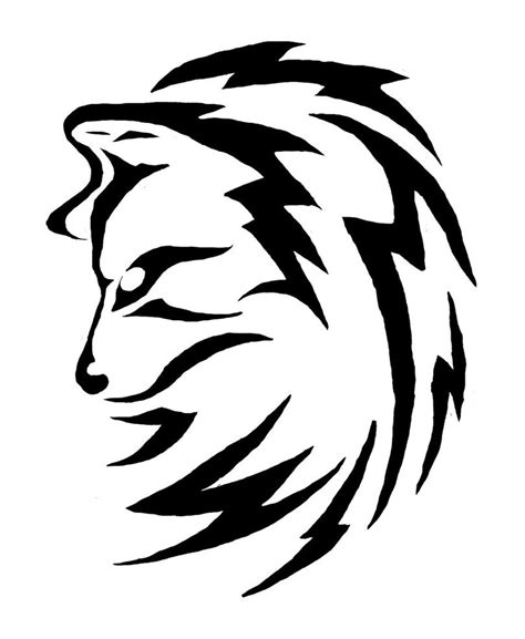 simple wolf tattoo simple black and white drawing ideas simple tribal animal