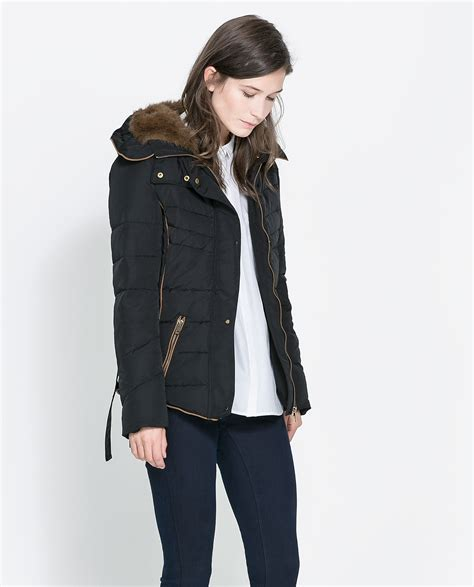 Quilted Jacket Zara by Zara Quilted Jacket With In Black Lyst