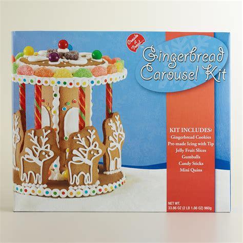Gingerbread Home Decor gingerbread carousel kit world market