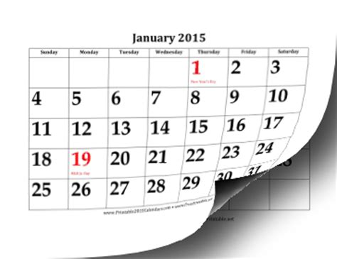 printable calendar 2015 large printable 2015 calendar with large dates