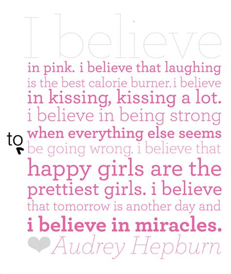 printable audrey hepburn quotes quot i believe in pink quot free audrey hepburn printable poor