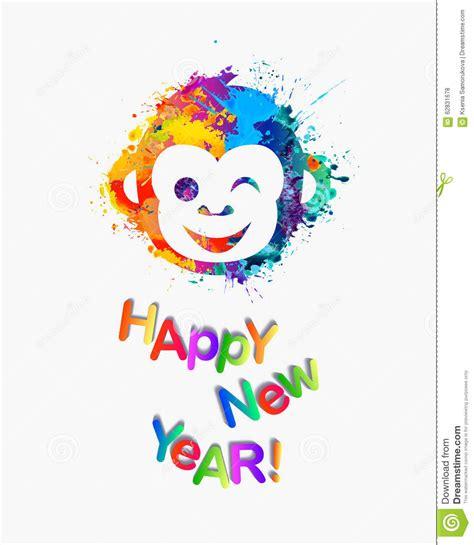 happy new 2016 year congratulation card stock vector