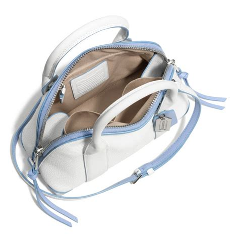 Marks Spencer Coach Style Mini Handbag Keyring by Lyst Coach Bleecker Mini Satchel In Edgepaint