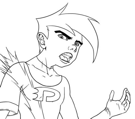 Danny Phantom Free Coloring Pages Danny Phantom Coloring Pages