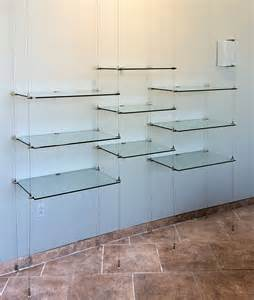 commercial glass shelves suspended cable shelves for ventana systems