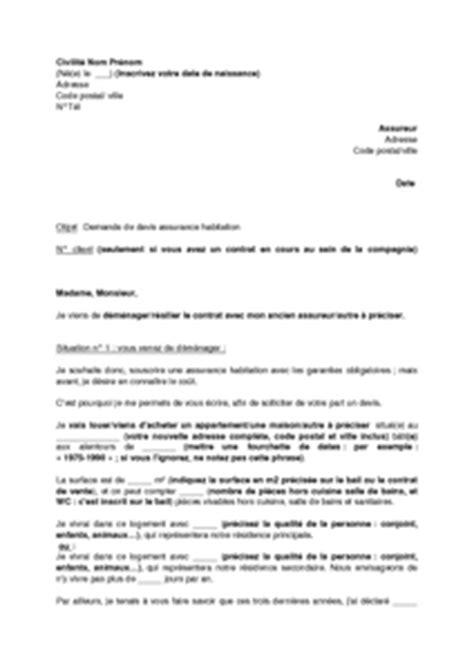 Exemple De Lettre Demande De Nouvelles Lettre De Demande De Devis Pour Une Assurance Habitation